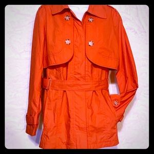 Chico's Coral Convertible Trench/Top Size 2/L